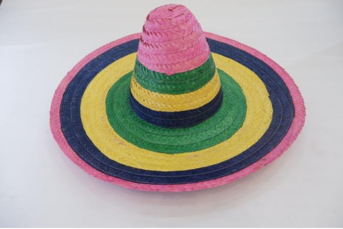 mexican sombrero hat with assorted color