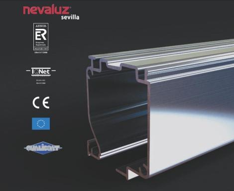 Extruded aluminium profiles for awnings, flyscreens and rollerblinds. Certified by Aenor, QualiCoat and IQ Net.