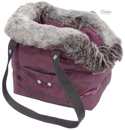 Exclusive pet carriers with fur cushion.