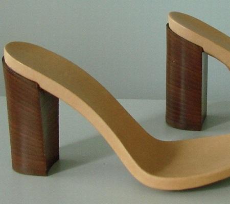 Fussbett in microtek con lamina iniettata art. 500 + Tacco art. 3796 H80