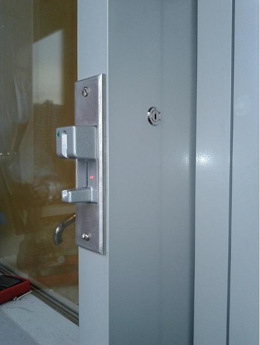 System are installed in the front panel without an emergency key