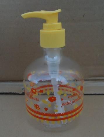 Hand soap bottles