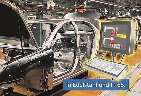 in Edelstahl und IP 65