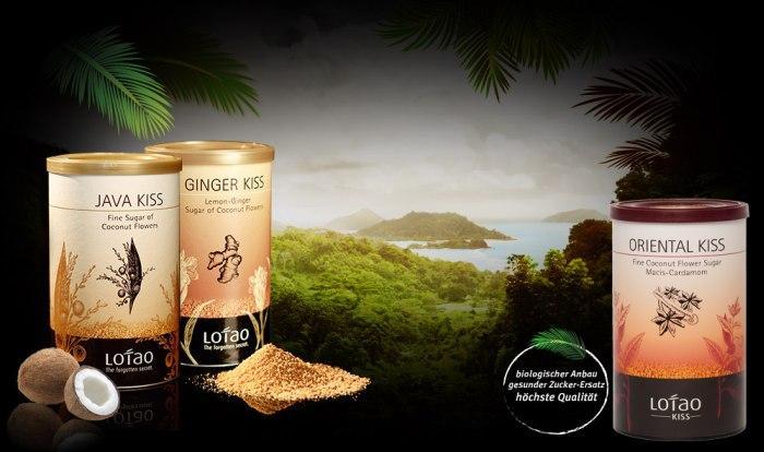 Drei Sorten Kokosbluetenzucker von Lotao (Palmzucker, Coconut Sugar)