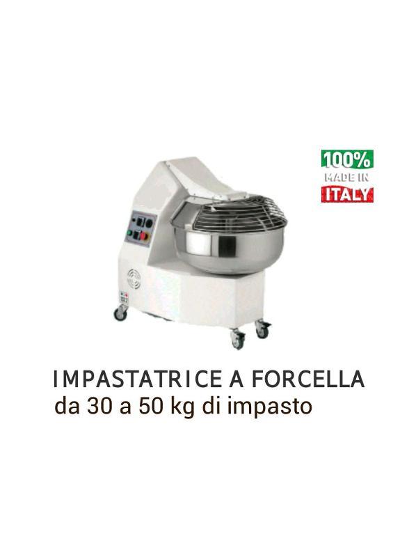 Fork kneading machine 35 kg dough 1 o 2 speed, Petrin a axe oblique 35kg pâte 1 o 2 vitesse, impastatrice a forcella 1 o 2 velocita 35kg impasto