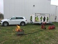 Gasbefeuerte Brandsimulationsanlage