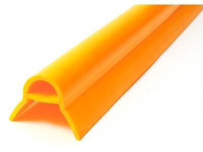 Paraspigolo di sicurezza in Pvc. Barre da mt 2 disponibile versione piccola e grande (dimensione aletta) e in 5 colori : giallo, azzurro, verde pastello,rosso e bianco