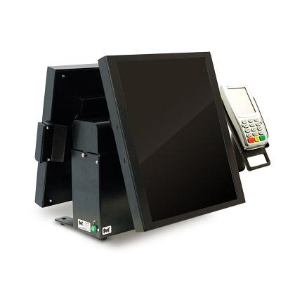 "Touchscreen terminal for cashier with a Full HD 17""-monitor for the buyer, which is usually translated visuals accompanying the current order goods."