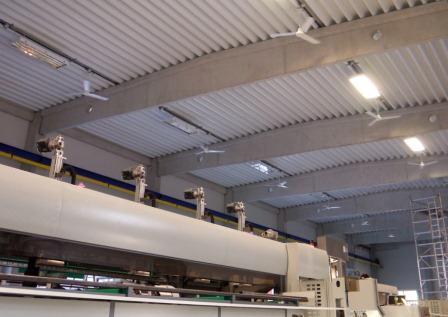 ceiling fans , exhibition tent