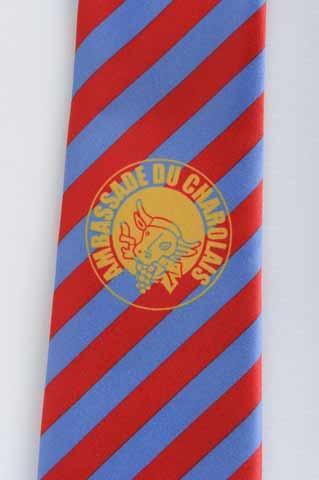 Cravate logotée