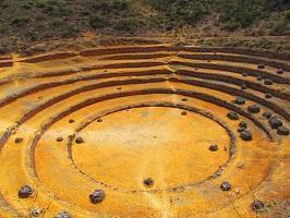 Centro de experimentacion agrícola en la época incaica.