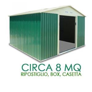 Casette box da giardino in lamiera zincata. Disponibili diverse misure.