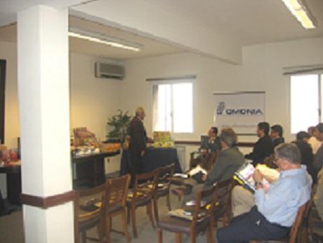 Presentación y muestrario de nuestros productos en el salón del ministerio industrial a importadores en Montevideo Uruguay