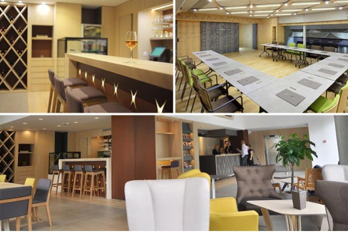 Showroom - reception, lounge and conference room