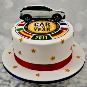 gateau decore peugeot car of the year