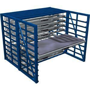 Metal sheet rack horizontal