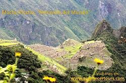 """Foto de Machupicchu, tomada desde la Puerta del Sol o llamada tambien """"Inti Punku"""". A este lugar se llega caminando en 30 minutos desde la puerta de ingreso de Machupicchu por un hermoso camino inca"""
