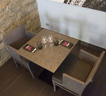 Plateau de table en Stratifié Compact HPL épaisseur 10mm décor Feuille d'Argent