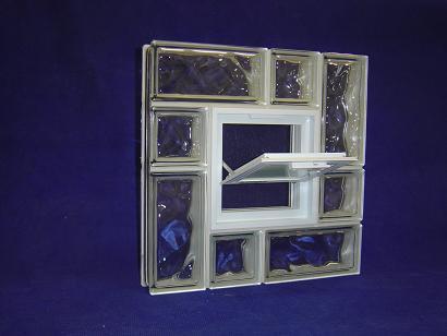 Okno z pustaków szklanych do piwnicy, Okno wentylacyjne do pustaków szklanych 24x24x8. Producent Glasspol.pl Maciej Załuski