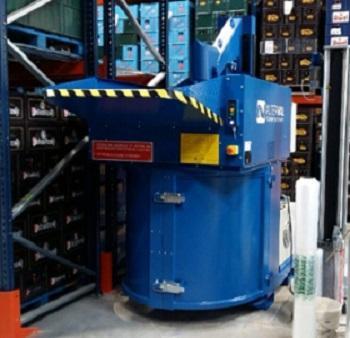 Installation d'un Valpak au centre de l'usine de production, là où les déchets sont générés