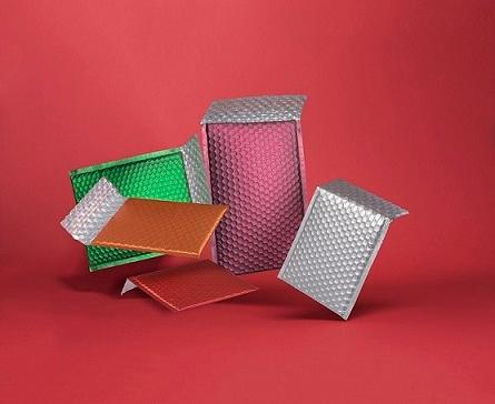 Metallic bubble bags
