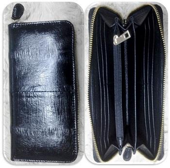 The special Women's wallet made of Giant eel leather.