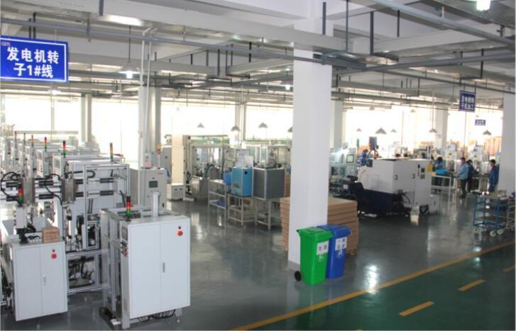 It is our alternator production line, we can make 50000 alternators in one month.