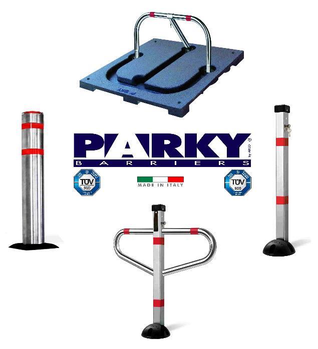 Barriera per parcheggio con lucchetto o con chiave