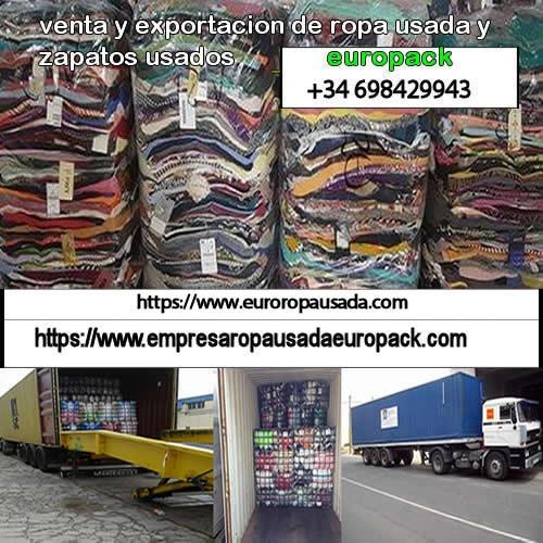 Empresa especializada en la venta y exportación de ropa de segunda mano usada al