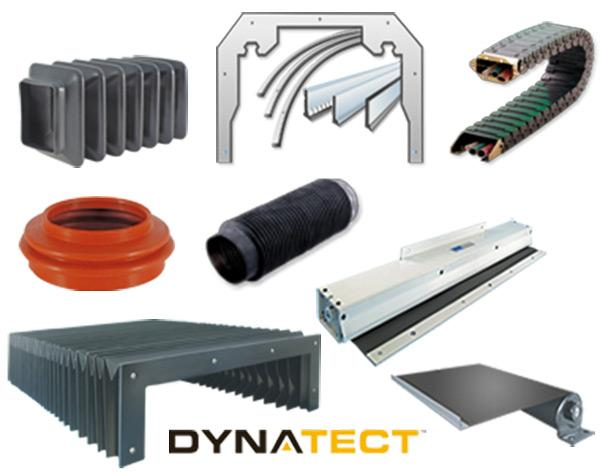 Dynatect offers a wide range of industrial equipment protection devices that ensures protection for both man and machine such as bellows, roll up cover, walk-on covers and miniature slip clutches.