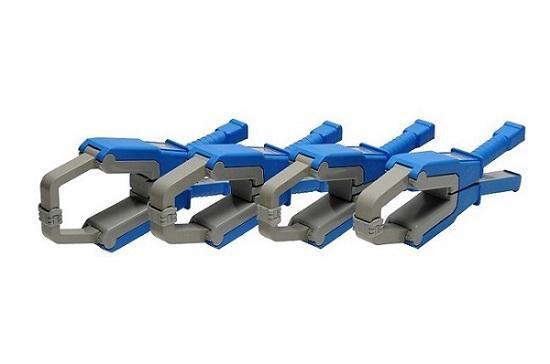 Pinces ampèremétrique pour courants alternatifs. Série de 9 pinces ampèremétriques de base permettant des rapports de transformation de 100A/1A à 3000A/5A pour des câbles jusqu'à 85 mm.Barres 125x46