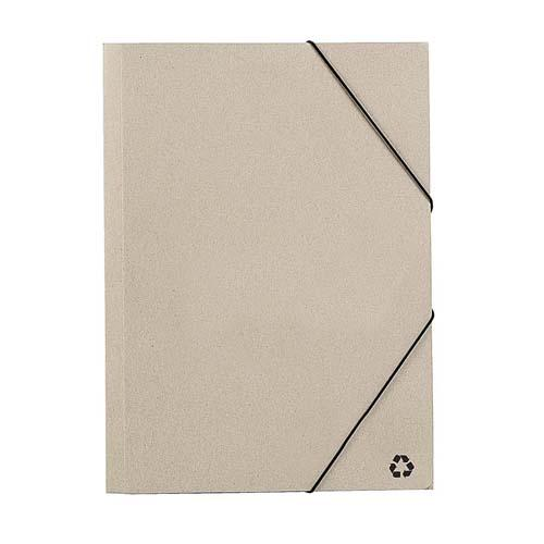 Carpeta de gomas - Material: cartón reciclado - 3 SOLAPAS INTERORES - Medidas:  24 x 34 x 4 cm