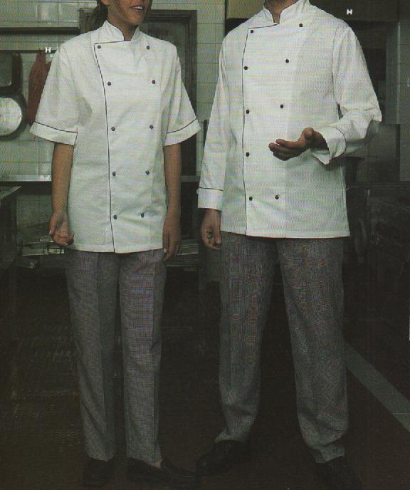 Example of professional clothing: kitchen jackets and trousers