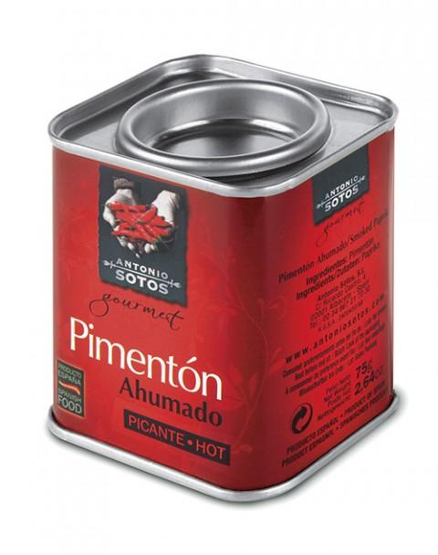 Gourmet Smoked Hot Paprika – 75 g – Metal tin with an intense flavor, aroma and color.