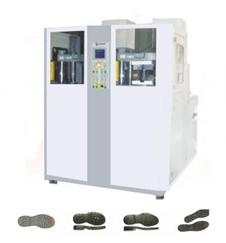 2 STATIONS 1 COLOR PVC-THERMOPLASTIC-TPU SHOE SOLES INJECTION MACHINE