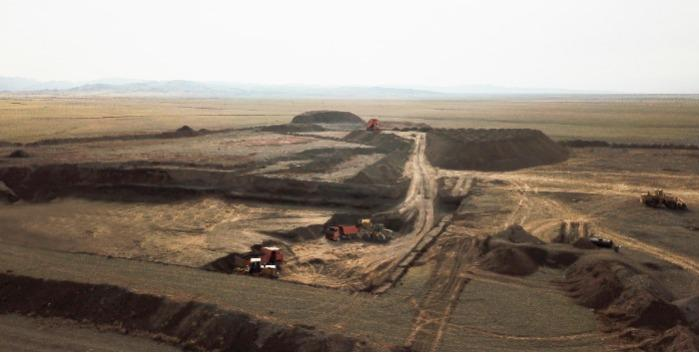 Bentonite Deposit - quarry in the Republic of Kazakhstan
