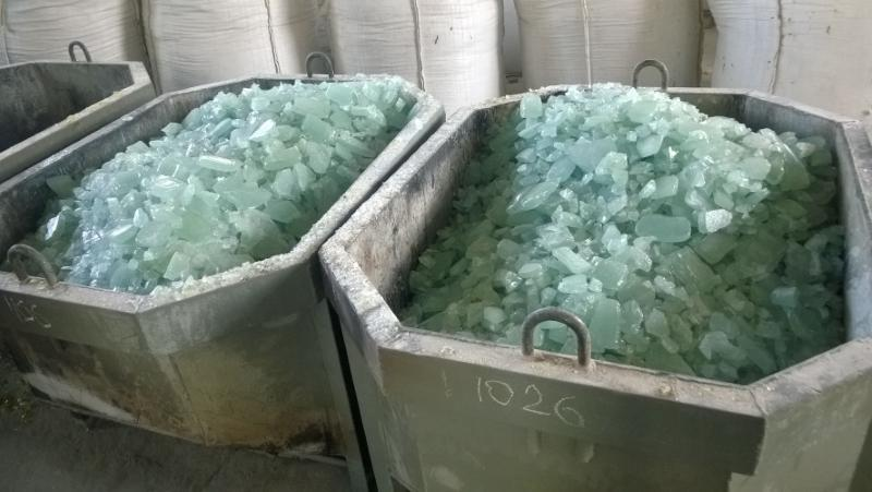 Recently Ukrsilicate, LLC launched new production line of crystal-blue transparent potassium-containing lumps aimed for EU market.