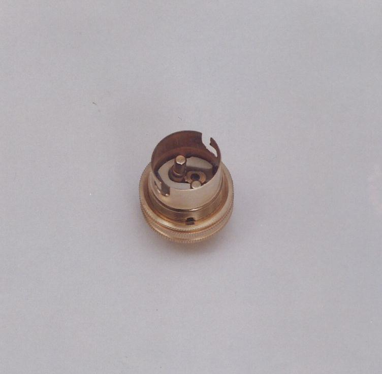 FORMED TYPE TAPPING CAPABLE TO WITHSTAND MAX TORQUE DURING ASSEMBLY WITH NO TEARING AND SLIPPAGE WITH GO NO GO GAUGE. BRASS PLUNGERS SCREWED IN PORCELAIN INSERT ( C-221 STEATITE ).