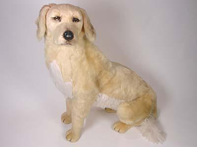 This plush Golden Retriever, a full-size studio model, is one of a family of nearly twenty created by the master artisans of Piutrè Italy.