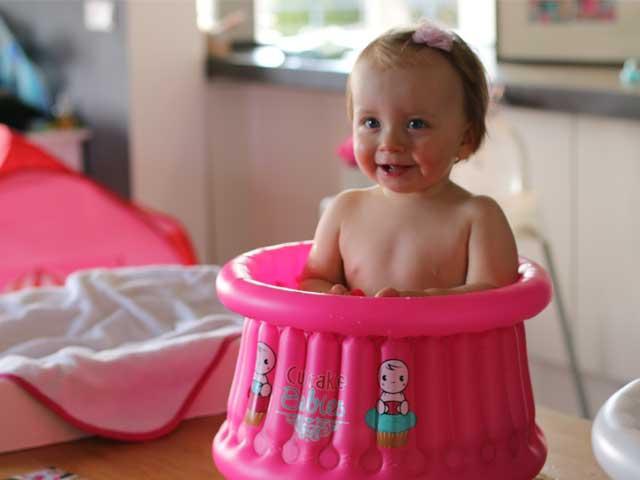 Cupcake babies bath fuchsia