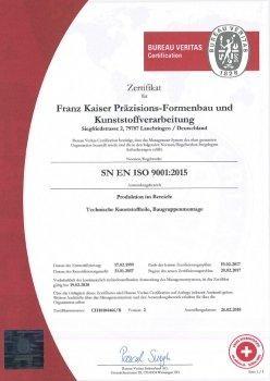 Kunststofftechnik Zertifikat