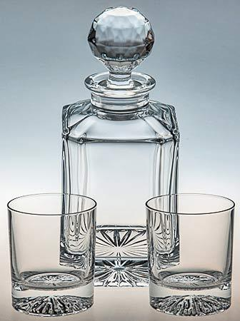 Square Crystyal Spirit Decanter & Glasses Set