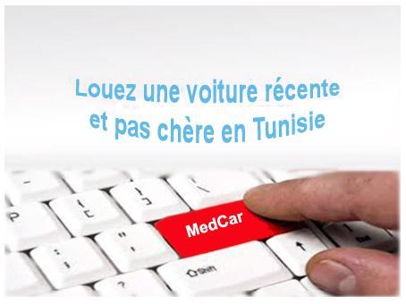 réservez votre location de voiture en tunisie directement en ligne sur notre site www.locationvoituremedcar.com