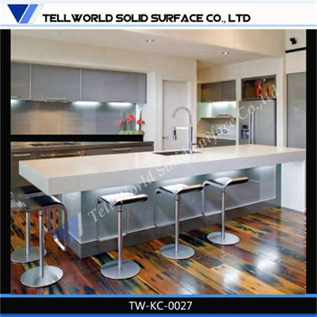 modern custom solid surface kitchen countertop