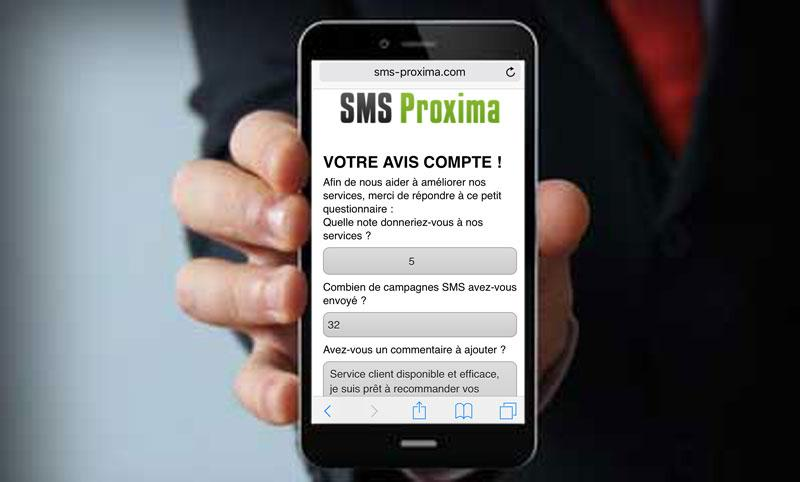 SMS et questionnaire