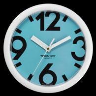 Plastic wall clock, diameter 245 mm, quartz sweep movements
