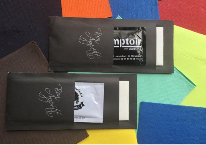 Pochettes couverts DUO Serviette Ouate + Lingette Rafraîchissante