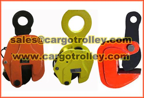 Steel plate lifting clamps manual instruction