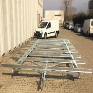 Telai personalizzati per case mobili, strutture di villeggiatura e campeggio. Personalized chassis for mobile homes.