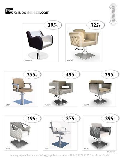 Various models of hairdressing chairs of high quality